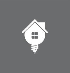 home idea creative logo design template vector image