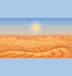landscape desert dunes mountains from sand vector image