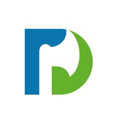 Letter d axe logo design template elements vector