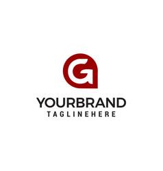 letter g app modern shape logo design concept vector image