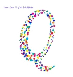 Letter Q from Bright Color Ink Blots with vector