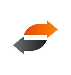 Letter s arrow logo design concept template vector