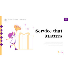 loyalty program for regular clients landing page vector image