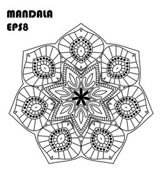 Mandala coloring book elemen vector