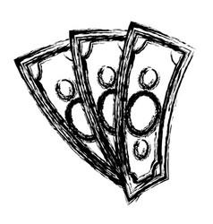 money bills icon vector image vector image