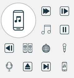 Multimedia icons set collection of extract device vector