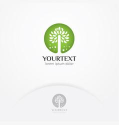 natural flower logo vector image