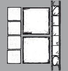 negative grunge frame vector image