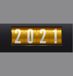 new year golden scoreboard numbers 2021 on vector image