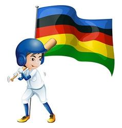 Olympic flag and baseball player vector image