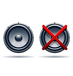 On off mode speakers vector