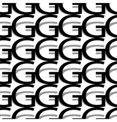 Pattern letter g vector
