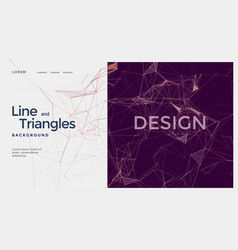 polygonal geometric composition with dots and line vector image