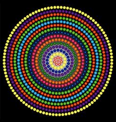 Psychedelic kaleidoscope circle vector
