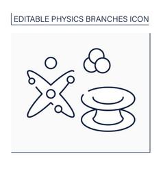 Quantum physics line icon vector