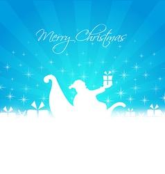 santa bringing gifts card vector image