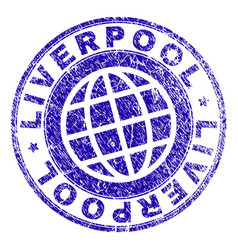 Scratched textured liverpool stamp seal vector