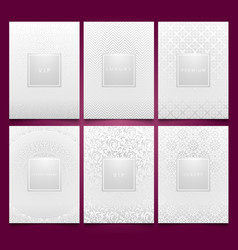 set white packaging templates with silver vector image