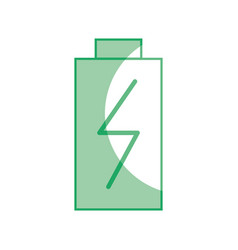 silhouette battery power electric digital charge vector image