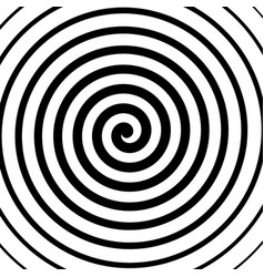 Spiral background in black and white vector