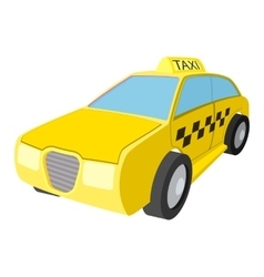 Taxi car cartoon icon vector image