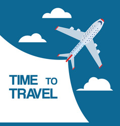time to travel and flight booking vector image