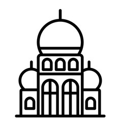 Turkish palace icon outline style vector