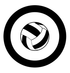 volleyball ball icon black color in circle vector image