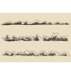 water waves in sea design elements vintage vector image