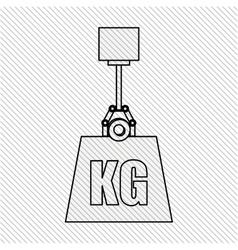 weight measurement design vector image