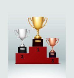 champion cups vector image vector image