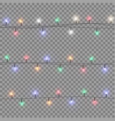 festive multi-colored garland vector image vector image