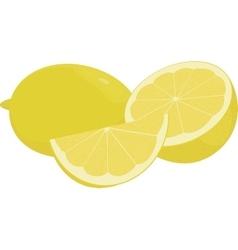 Fresh yellow lemons collection of vector image