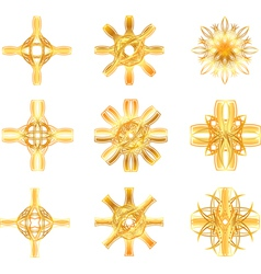 gold star symbol vector image