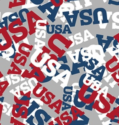 USA seamless pattern National background American vector image
