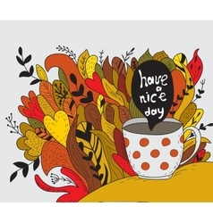 Have a nice day Autumn doodle vector image vector image
