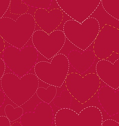 Seamless valentines day background vector image vector image
