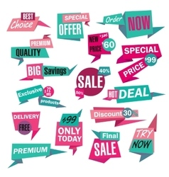Set of Sale and Best Choice paper Badges and vector image vector image