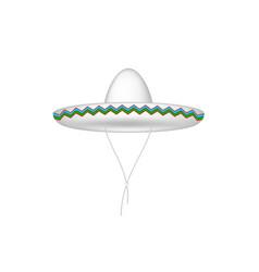 sombrero hat in white design vector image