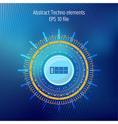 Tecnhology elements on dark blue background vector image