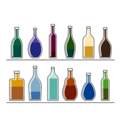 Bottles with drinks vector image