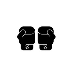 boxing gloves icon vector image vector image