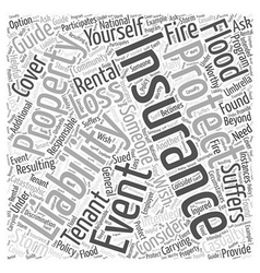 Guide to Protecting Youself and your Rental vector image vector image
