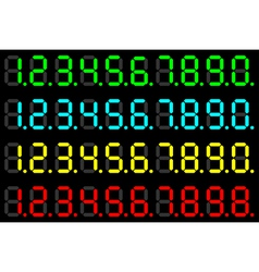 LED digits vector image vector image