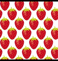 strawberry seamless pattern vector image