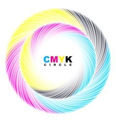 Abstract CMYK circle vector image