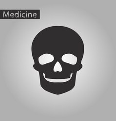 black and white style icon of skull vector image