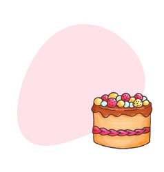 cake with place for text vector image