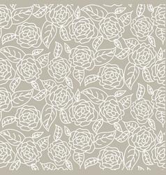 drawn line rose wedding seamless pattern vector image vector image