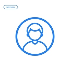 Flat line male icon vector